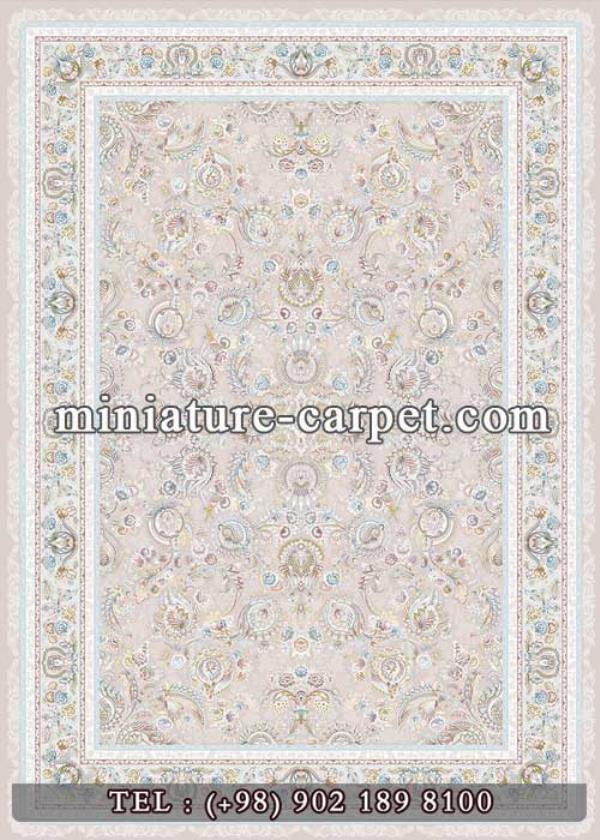 Kover + Kovry + Carpet + Rug + Machine Made + Machine Woven + 1500 Reeds + Miniature Carpet + Kashan+ High Bulk + Embossed Flowers